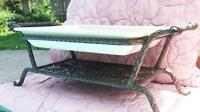 Casserole Baking Dish with Ornate Wrought Iron Stand