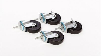Set Of 4 4 Caster Wheels 38 Bolt For Wire Shelving 600 Lb Weight Capacity