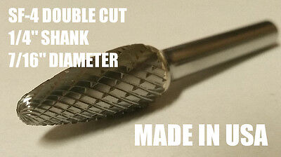 Sf4d Tree Shape Tungsten Carbide Burr Bur Cutting Tool Die Grinder Bit 14 New