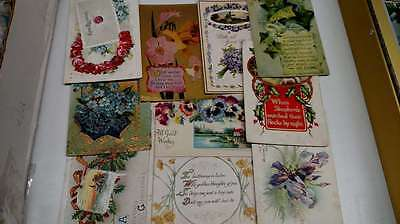 Group of Over 50 Miscellaneous Greetings Antique Postcards L1161