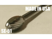 "SM1S Cone Shape 1//4/"" Carbide Burr Bur Tool Die Grinder Bit 1//4/"" Shank NEW"