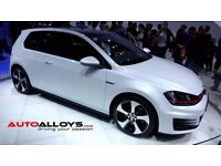 "NEW 18"" GTi 7 Style Alloy & Tyres will fit VW Golf MK5, MK6 MK7, Jetta, Passat, Caddy Seat leon..."