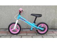 B'TWIN RUNRIDE 500 CHILDREN'S 10-INCH BALANCE BIKE - BLUE/PINK