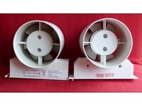 "Extractor fan with adjustable timer 100mm (4"")"