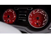 Kahn Audi Q3 Instrument Dial Panel Red