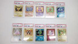 Pokemon Cards Psa 9 Graded Bundle