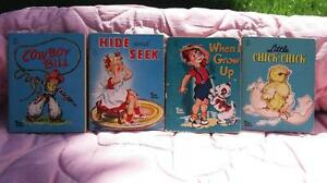 1950 WHITMAN TINY TALES MINIATURE CHILDREN BOOKS DATED c 1949-50