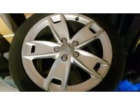 17 inch Audi A3 Sport alloys with 205/50/17 Michelin Pilot Winter tyres (5x112, et56, 57.1) Golf A4