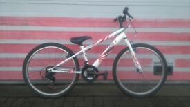 Kids mountain bike. 15 speed, front suspension, 24inch wheels.
