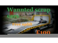 scrap cars wanted for cash GLASGOW.