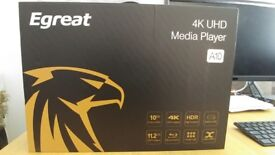 Egreat A10 High-end Android Media 4k HDR 3D Player - boxed & immaculate