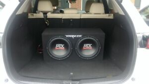 """2x 12"""" inch MTX subwoofers"""
