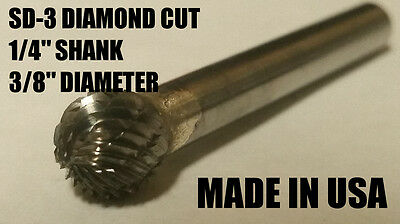 Sd3d Ball Shape Tungsten Carbide Burr Bur Cutting Tool Die Grinder Bit 14 New