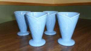 Set of 4 Blue Ice Cream Cups Kitchener / Waterloo Kitchener Area image 1