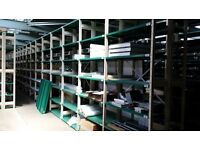 Adjustable Boltless Shelving - Long Runs - ESS SMP Cream/Green - Garage / Workshop / Office /
