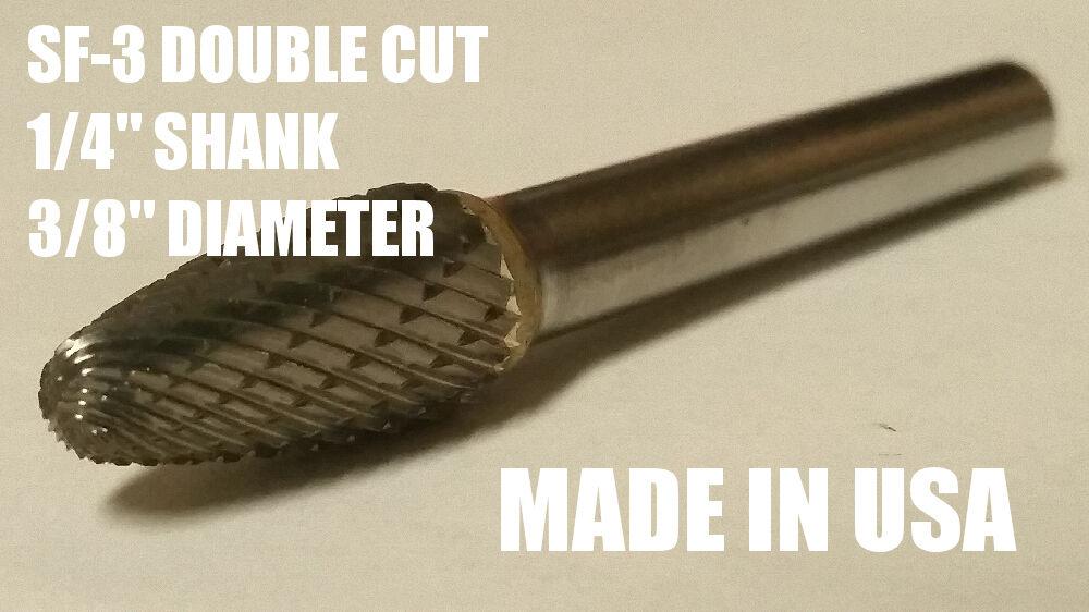 SF3D Tree Shape Tungsten Carbide Burr Bur Cutting Tool Die G