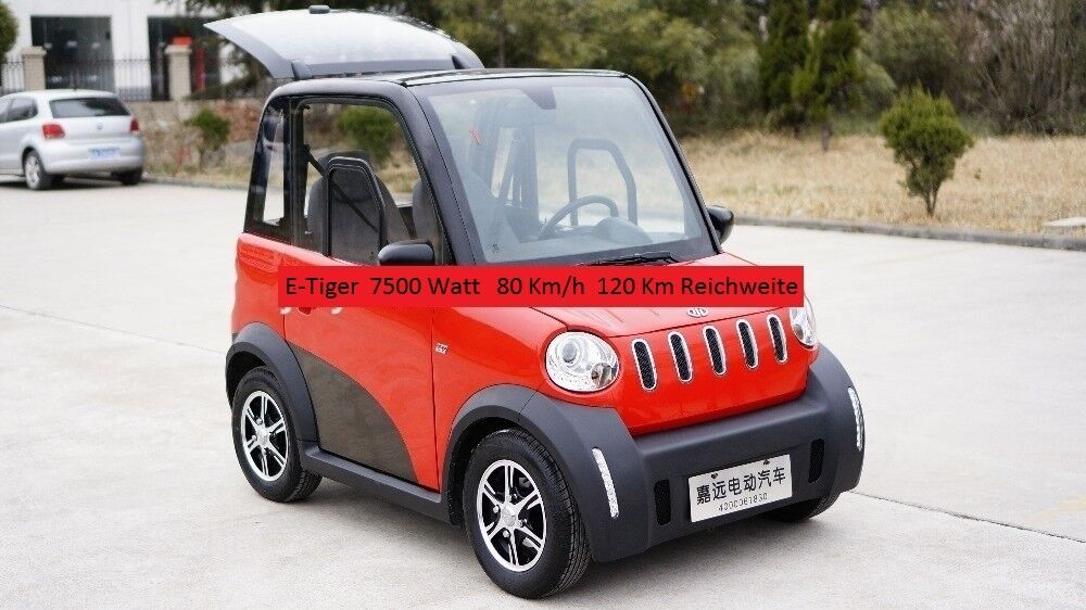 e auto e tiger 2 sitzer neu 7 5 kw 80km h eur. Black Bedroom Furniture Sets. Home Design Ideas