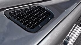 Land Rover Defender Bonnet Vents with Stainless Steel Mesh - Pair