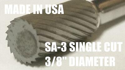 Sa3s Cylindrical End 38 Carbide Burr Bur Tool Die Grinder Bit 14 Shank New