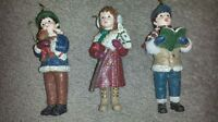 Three antique looking Christmas tree ornaments