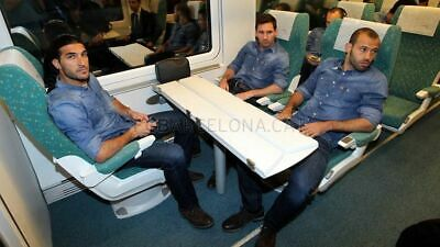 Mascherano FC Barcelona Barca Worn Team Travel Jeans - Game Match Used - -