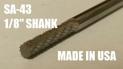 Sa43d Cylindrical End Solid Carbide Burr Bur Cutting Tool Die Grinder Bit 18