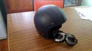 open face helmet leather goggles triumph norton harley honda Blacktown Blacktown Area Preview
