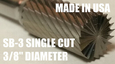 Sb3s Cylindrical End Cut 38 Carbide Burr Bur Tool Die Grinder Bit 14 Shank