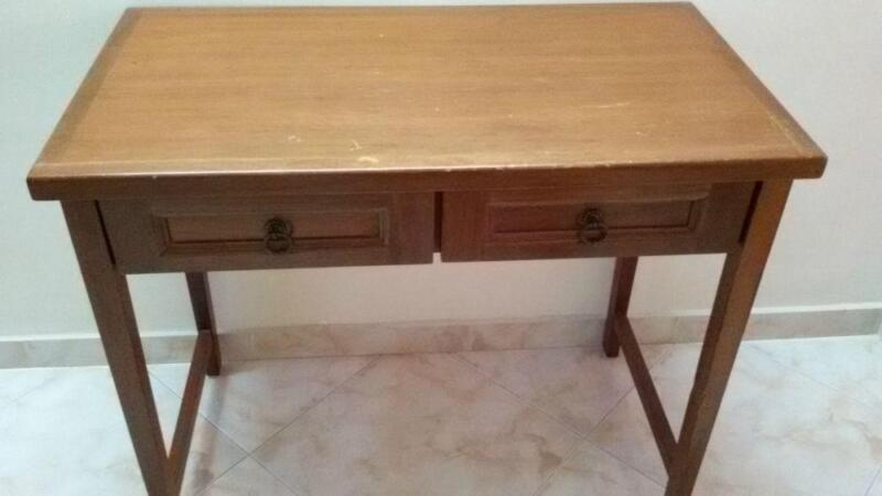 Antique looking table at half price + free wooden stool worth $30