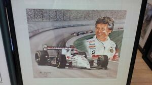 MARIO ANDRETTI Limited Edition Artist Proof FRAMED Print