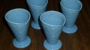 Set of 4 Blue Ice Cream Cups Kitchener / Waterloo Kitchener Area image 3