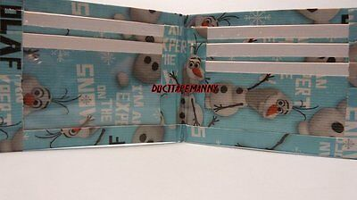 Duct Tape Wallet FROZEN WITH OLAF ALL OVER IT Handmade