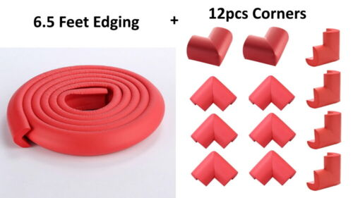 Red Furniture Table Edge Corner Protector Soft Child Safety Foam Cushion Guard