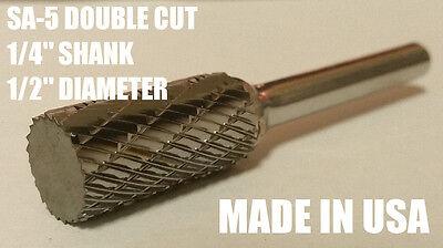Sa5d Cylindrical Tungsten Carbide Burr Bur Cutting Tool Die Grinder Bit 14 New