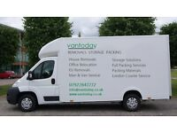 MAN AND VAN HOUSE REMOVALS OFFICE RELOCATION MOVING PACKING CLEARANCE PIANO MOVERS MAN WITH VAN HIRE