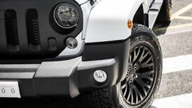 Jeep Wrangler JK Black Set of 4 17 inch Alloy Wheels Kahn 1941 Deep Concave