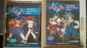 Mighty Beans/5 Pezz/4 Beyblade Colouring Books/ Figures/Tengamo