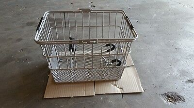 Sunlite Wire Steel Mesh Front Bicycle Basket Silver Carrier Bike Transport Mount