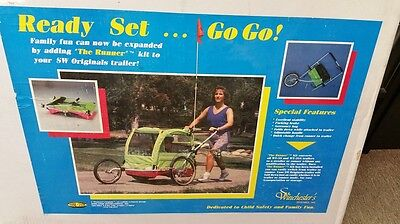 Kool-Stop Originals Runner Conversion Kit for Bike Trailer WT-3S WT-3SA Bicycle