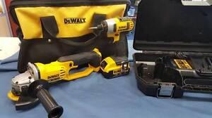 DeWalt 18V 3 Piece Cordless Combo Kit With 2 x 4.0AH Batteries Macquarie Fields Campbelltown Area Preview