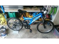 "Kids 20"" Full Suspension Mountain bike - 6 speed. Great condition."