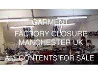 Garment Factory Closure - All Contents for Sale - Industrial Sewing Machines, Fabric Cutters, + More