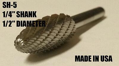 "SG43D Tree Shape SOLID Carbide Burr Bur Cutting Tool Die Grinder Bit 1//8/"""