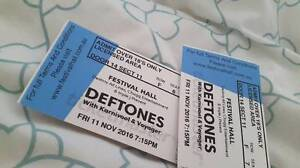 2 TICKETS FOR DEFTONES with KARNIVOOL & VOYAGER Narre Warren South Casey Area Preview