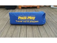 Mothercare Travel cot/ playpen inc. matress & cover