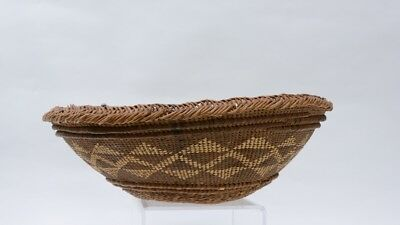 "Hupa Hopper Basket -  Late 19th Century   5 1/2"" x 15 1/2"""