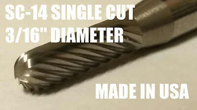 Sc14s Cylindrical Radius 316 Carbide Burr Bur Tool Die Grinder Bit 14 Shank