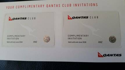 Qantas Lounge Club Passes/Invitations For Sale Expire June 2018