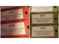 Royal Mail 2000 x PPI 1st Class & 2nd Class Bag Labels A Box Of 2000 Bag Tag