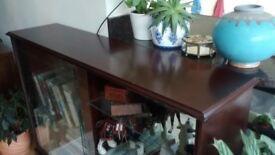 Mahogany display cabinet/bookcase